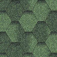 Мягкая черепица Акваизол Зеленая Эко Мозаика