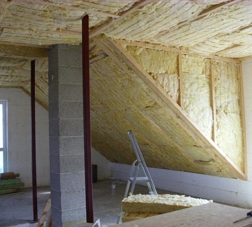 утеплення даху мінеральною ватою